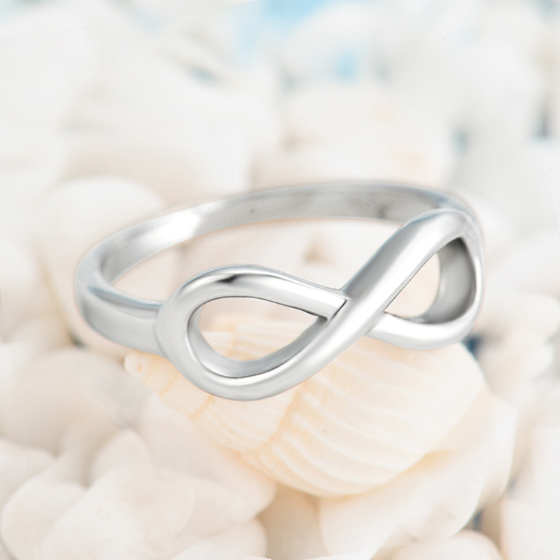 Fashion Unique Design Infinity Love Silver Plated Rings For Women 316L Stainless Steel Best Friend Gift Jewellery Wholesale