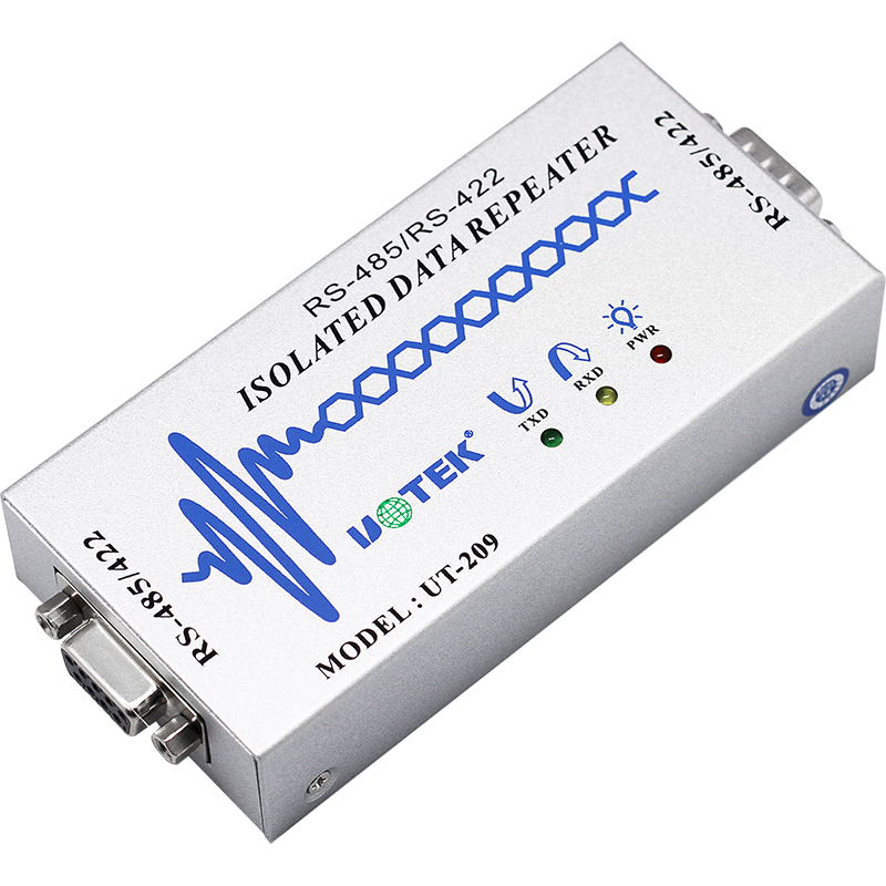 Industrial Grade RS485/RS422 / Signal Amplifier Repeater Optical Isolation UT-209 hightek hk 5110a industrial grade 1 port rs232 485 to 4 port rs485 hub each port with optical isolation 600w thunder protection