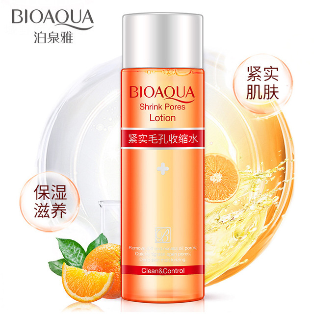 2018 BIOAQUAFirming pores Shrink pores soft skin cleansing moisturizing water balance oil for face skin care