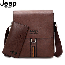 купить JEEP BULUO Brand High Quality Pu Leather Cross body Messenger Bag For Man iPad Famous Men Shoulder Bag Casual Business Tote Bags по цене 1027.77 рублей