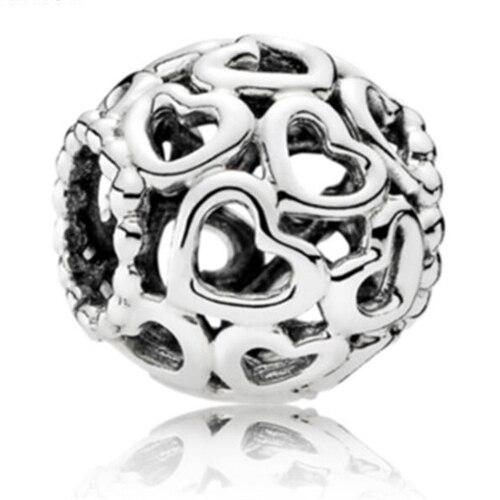 Simple Style Big Ball Stars Crystal Flowers diy bead fit Original Pandora charms Bracelet trinket jewelry for women Gifts