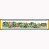 European town coundted Cross Stitch set 14ct DMC Cross Stitch DIY Cross Stitch Kits for Embroidery Home Decor Needlework DIY