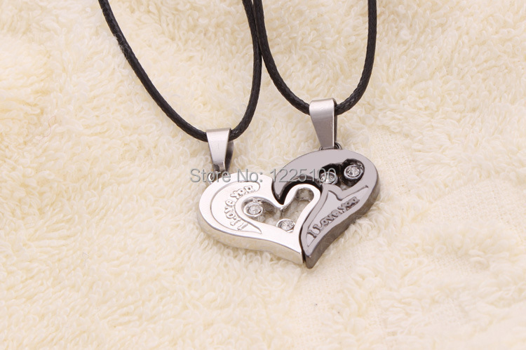 Free shipping romantic couplelovers broken heart pendants free shipping romantic couplelovers broken heart pendants necklacecouple love pendants in pendant necklaces from jewelry accessories on aliexpress aloadofball Choice Image