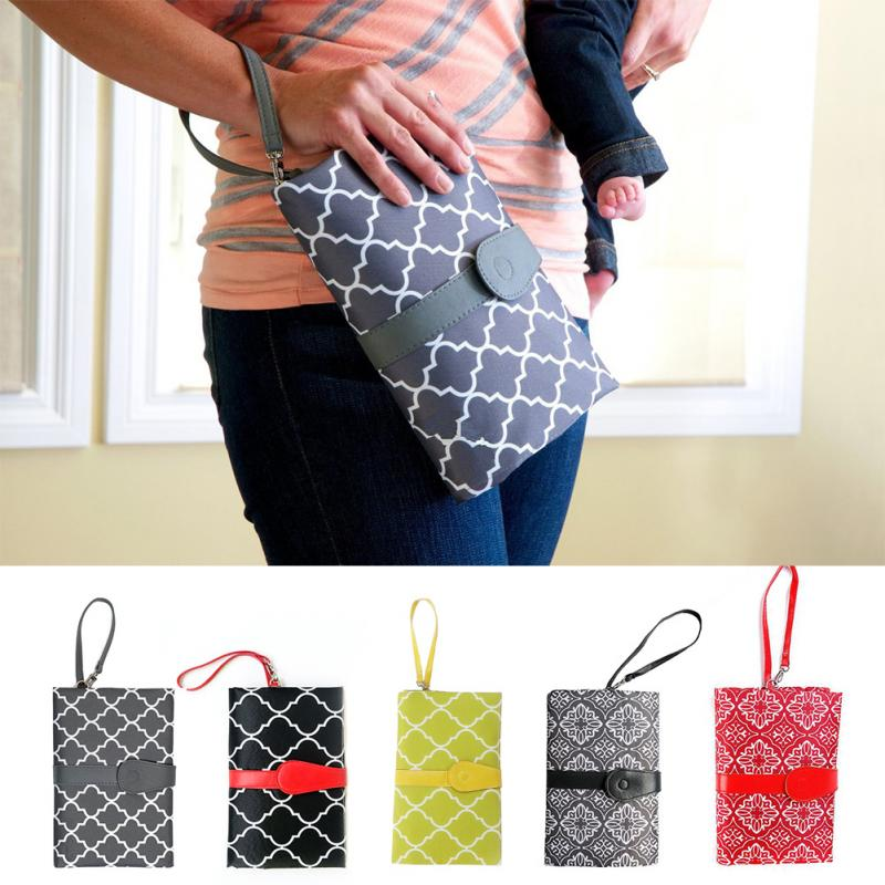 Portable Diaper Bags Baby Waterproof Diaper Changing Mat Wraps Travel Baby Changing Pad Bags Hanging Baby Stroller 1PC #20