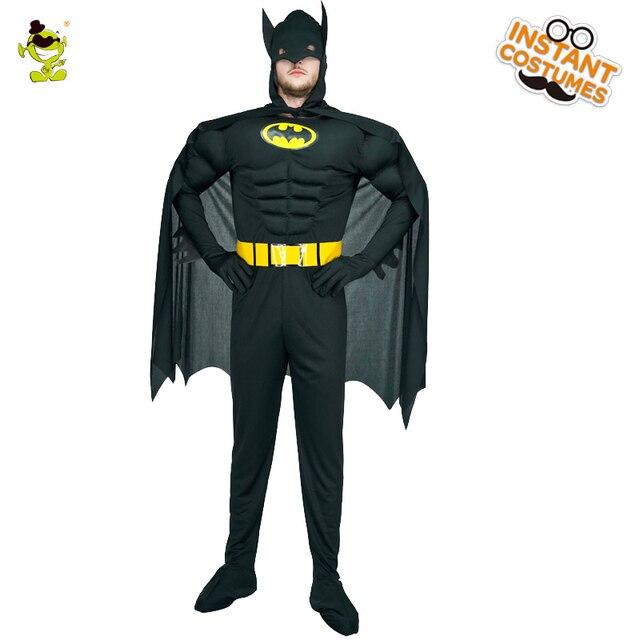 Uomo adulto batman costume con black outfit americano superman