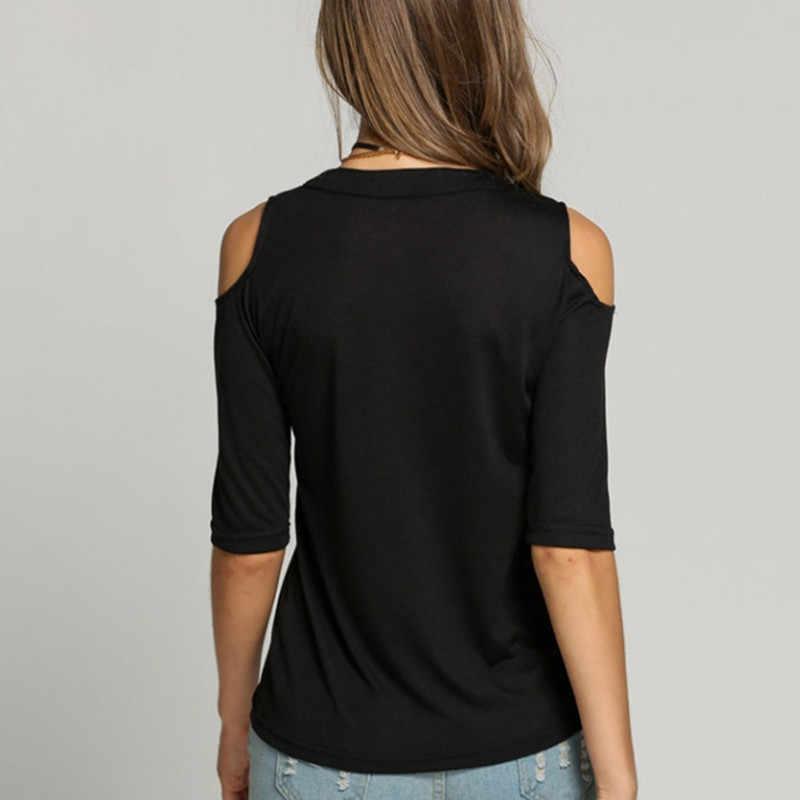 ZANZEA Сексуальная Открытая блузка с v-образным вырезом для женщин, повседневный топ со шнуровкой, женские летние топы с открытыми плечами, большие размеры, сорочка, рубашки