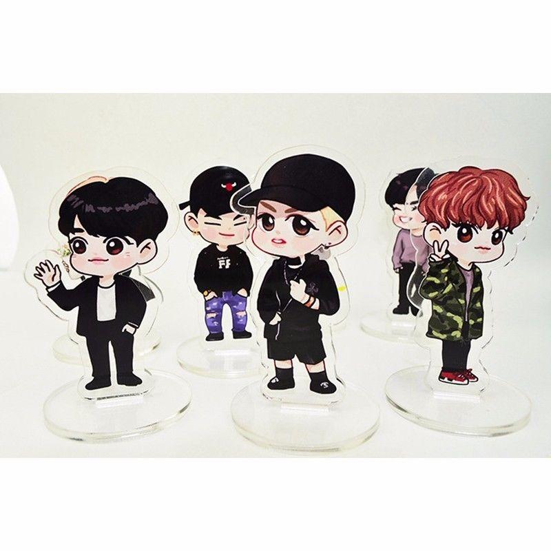 KPOP GOT7 Cartoon Acrylic Stand Plates BamBam YoungJae Mark Jackson JB Jin Young Yu Gyeom Mini Figure Fans Gift Collection