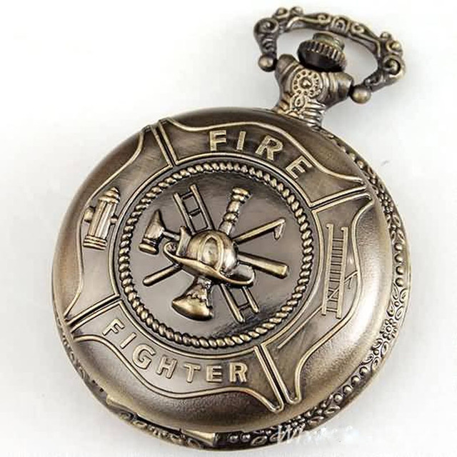 1feb4bd0db0 Cadeias de Bombeiro Lutador Relógio de Bolso Antigo relógio de Quartzo dos  homens por atacado freeship