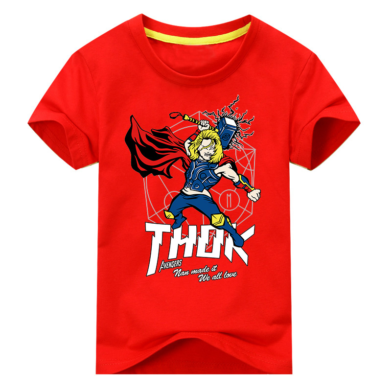 2018 New T Shirt for Boys clothes Thunk Cartoon Print O-neck Short Sleeve Toddler Kids Clothes for Daily and Holiday for 2-10T