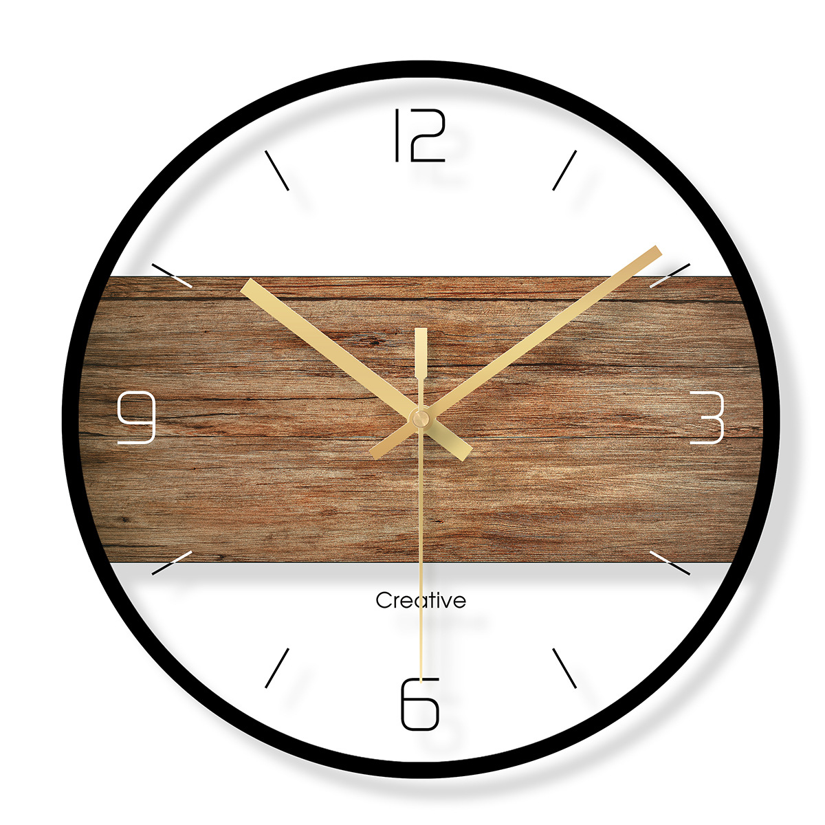 Creative Nordic Vintage Wall Clock Fashion Glass Watch Home Office School Decoration Fun Gift Dropshipping