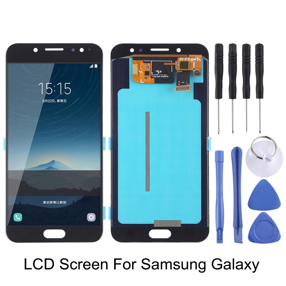 LCD Screen and Digitizer Full Assembly for Samsung Galaxy C7 / C7 Pro / C7010 / C8 ( Oled Material )LCD Screen and Digitizer Full Assembly for Samsung Galaxy C7 / C7 Pro / C7010 / C8 ( Oled Material )