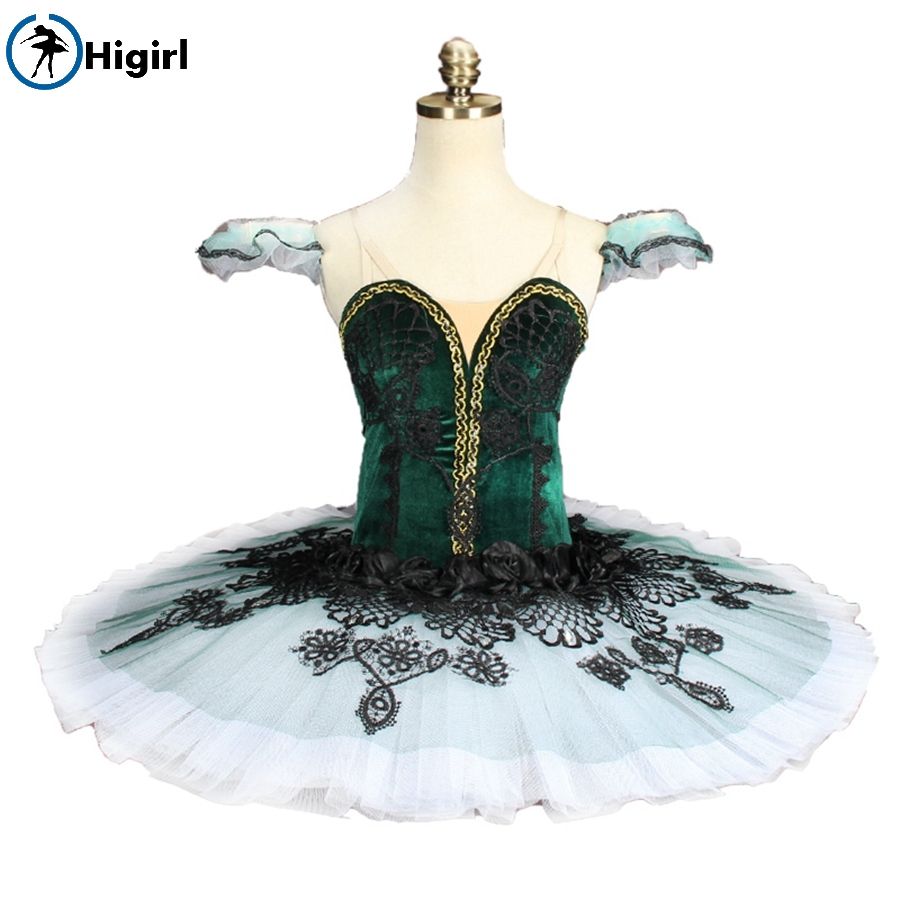 Adult and child green professional ballet tutu  Fairy Doll Ballerina Competition Professional Ballet Stage Costum BT9144B