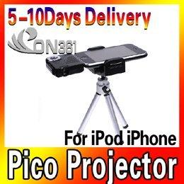 New Mini Portable Multimedia Pocket Cinema Pico Projector for iPod iPh one + Tripod video projector
