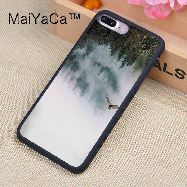 MaiYaCa Twin Peaks Art TPU Case For iPhone 7 Plus Full Protection Luxury Cover Case For iPhone 7Plus Coque