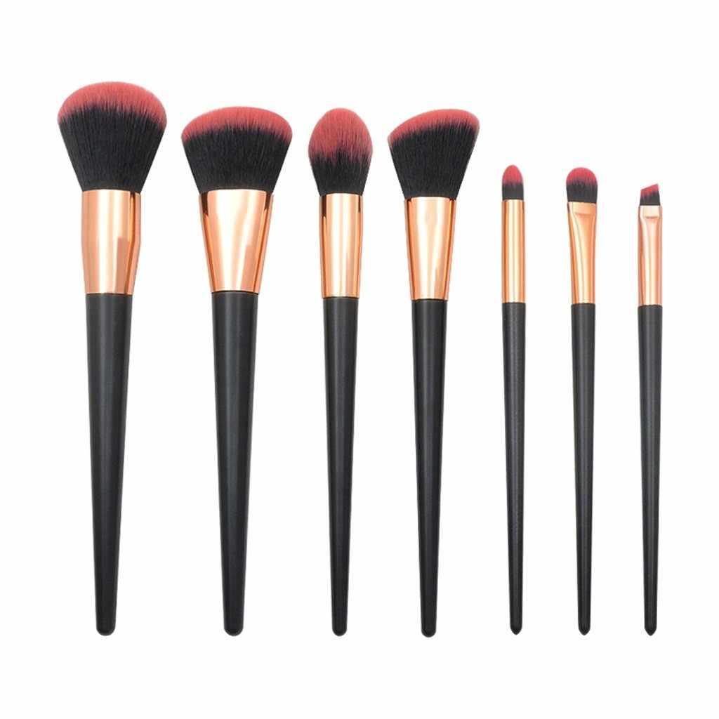 ISHOWTIENDA кисти для макияжа Наборы инструментов 7 шт черный, розовый Алмаз ручка глаз Кисти набор кистей для макияжа бровей для век Brushea # 5L