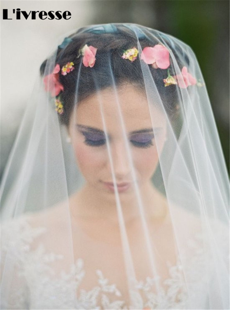 Short One Layer No Combs Soft Net Wedding Veils Bridal Headpiece - Bröllopstillbehör - Foto 4