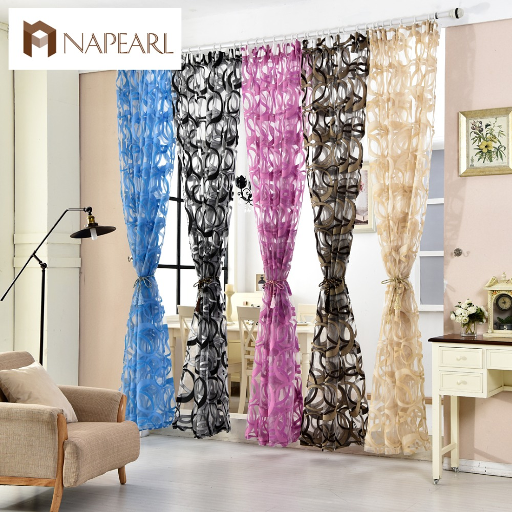 Modern organza transparent tulle curtains window Contemporary drapes window treatments