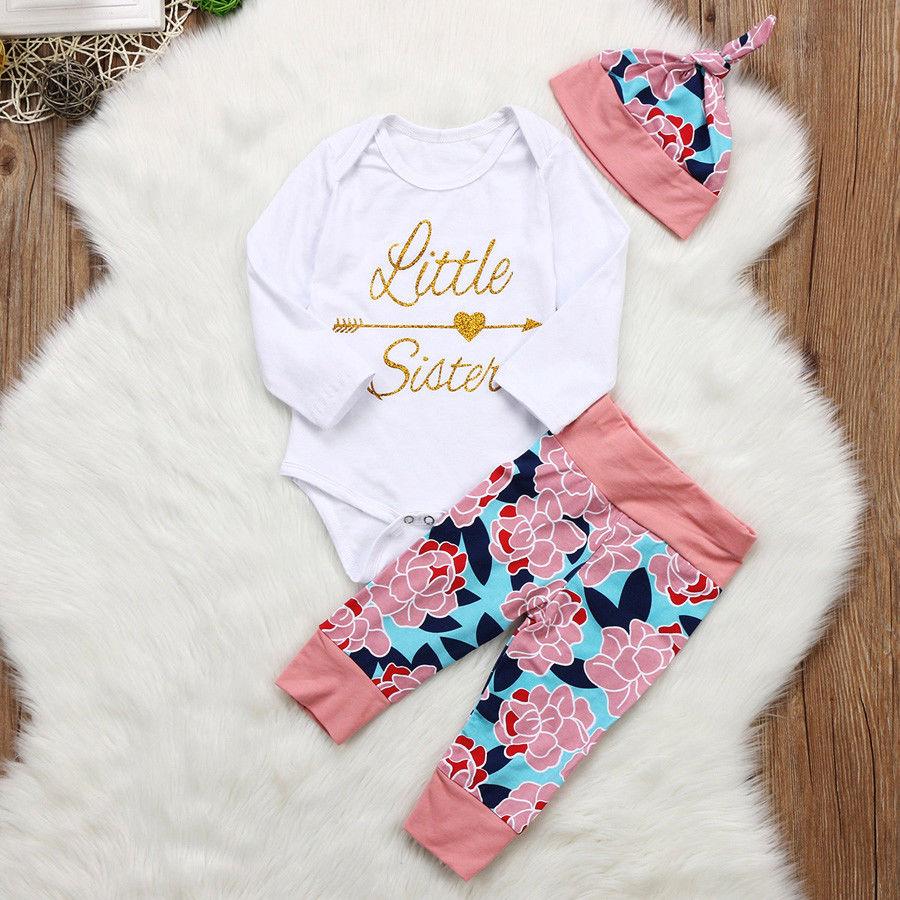 Baby girls pink glitter inital outfit loungewear