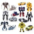 7 pcs, Mini transhape Transformação Crianças Clássico Carros Do Robô Bumblebee Brinquedos Para Crianças Figuras de Ação & Toy 8 cm