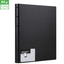 MyLifeUNIT Business Card Book PVC Plastic Name Holder with 600 Cards Capacity (Black)