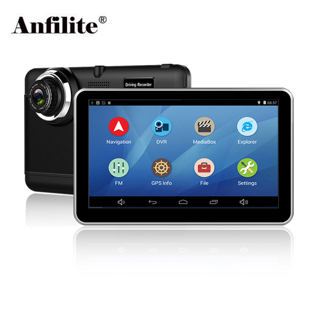 Anfilite Free shipping 7 inch Capacitive Android WIFI Quad Core car DVR with GPS Navigator dual cameras 1080P truck recorderAnfilite Free shipping 7 inch Capacitive Android WIFI Quad Core car DVR with GPS Navigator dual cameras 1080P truck recorder