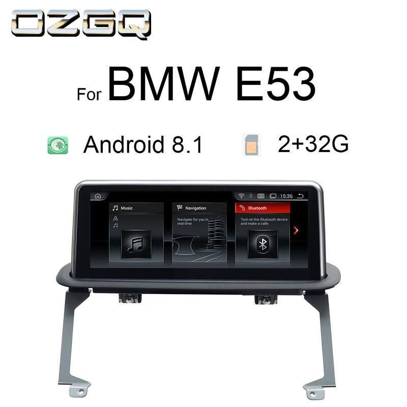 OZGQ Android 8.1 Système de Navigation Multimédia De Voiture Autoradio Pour BMW Série X 5 1999-2006 E53 Avec Arrière Caméra wifi Bluetooth