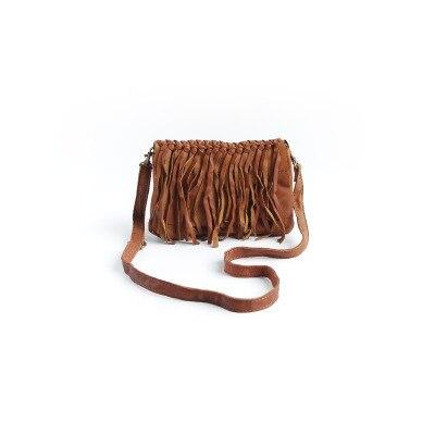Vendange New fashion lady's handmade Tassel fresh genuine leather handbag / messenger bag / shoulder bag2094 vendange 2017 new fashion mori girl systle casual vintage genuine leather handbag messenger bag2153