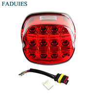 FADUIES Motorcycle LED Light red Tail Brake Light 12V License Plate Rear Lamp For Harley Dyna Super Wide Glide Low Rider Fat Bob