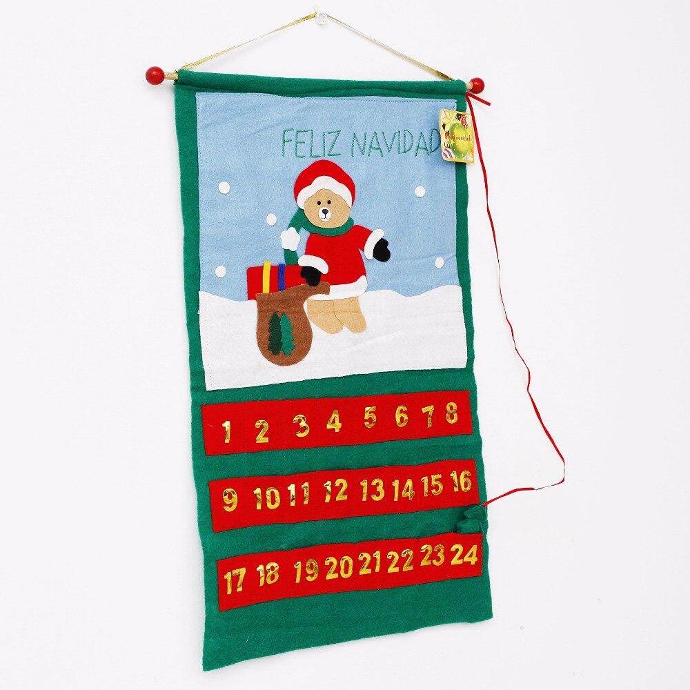 Uncategorized Santa Claus In Spanish aliexpress com buy new santa claus father christmas countdown decor advent calendars pockets spanish feliz navidad decoracion kid