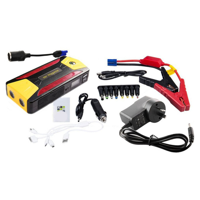 New 12000mAh Portable Car Jump Starter Battery Booster with USB Power Bank LED Flashlight for Truck Motorcycle Boat