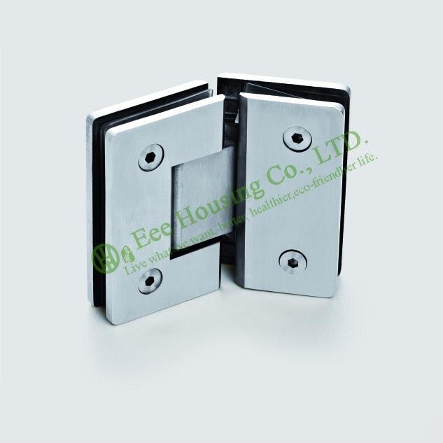 Edelstahl Glas clip Für Glastür, 135 grad Duschtürband, Bad Glastürscharnier, Satiniert glasklemm