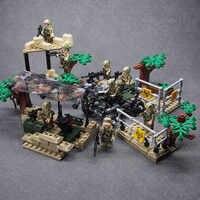 Army CS SWAT Police WW2 Military weapon building blocks brick Set Desert Eagle Mini toys for children
