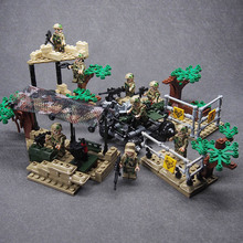 Army CS SWAT Police WW2 Military weapon building blocks brick Set Desert Eagle Figures compatible legoed toys for children ww2 german mountain division eagle corps military figure gun winter soldier army weapon building block brick legoed children toy