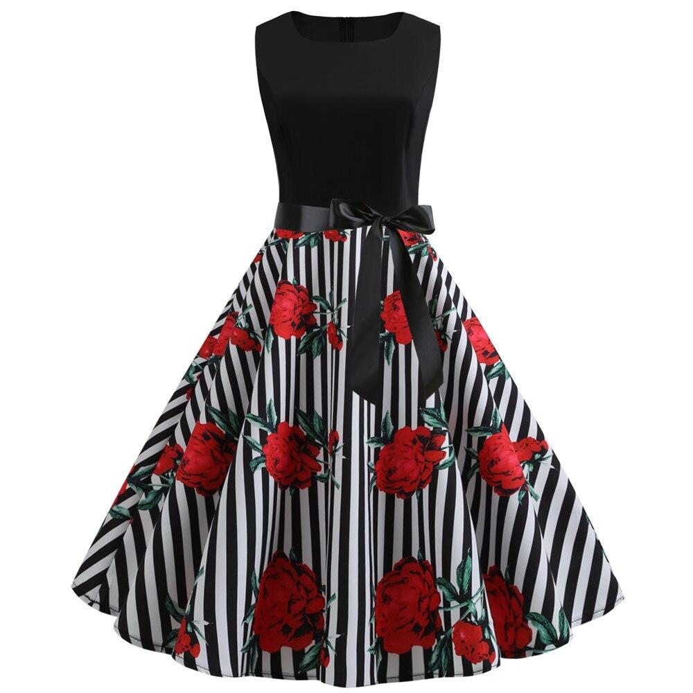 HTB1bPI bcnrK1RjSspkq6yuvXXai Women Summer Dresses 2019 Robe Vintage 1950s 60s Pin Up Big Swing Party Work Wear Rockabilly Dress Black Polka Dot Vestidos