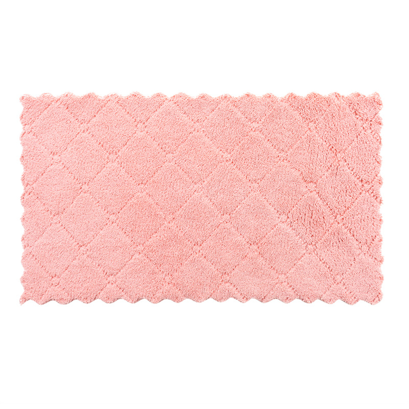 Kitchen Towel Cleaning Cloth Nonstick Oil Coral Velvet Microfiber Hanging Hand Towel Dishclout Washing Glasses Windows Car Floor in Cleaning Cloths from Home Garden