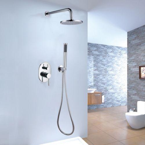 8 inch wall mount bath shower system with rain shower head u0026 hand shower china