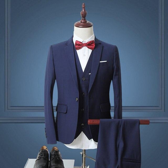 Online Shop 2017 Men Suit Latest Coat Pant Designs Slim Fit Mens ...