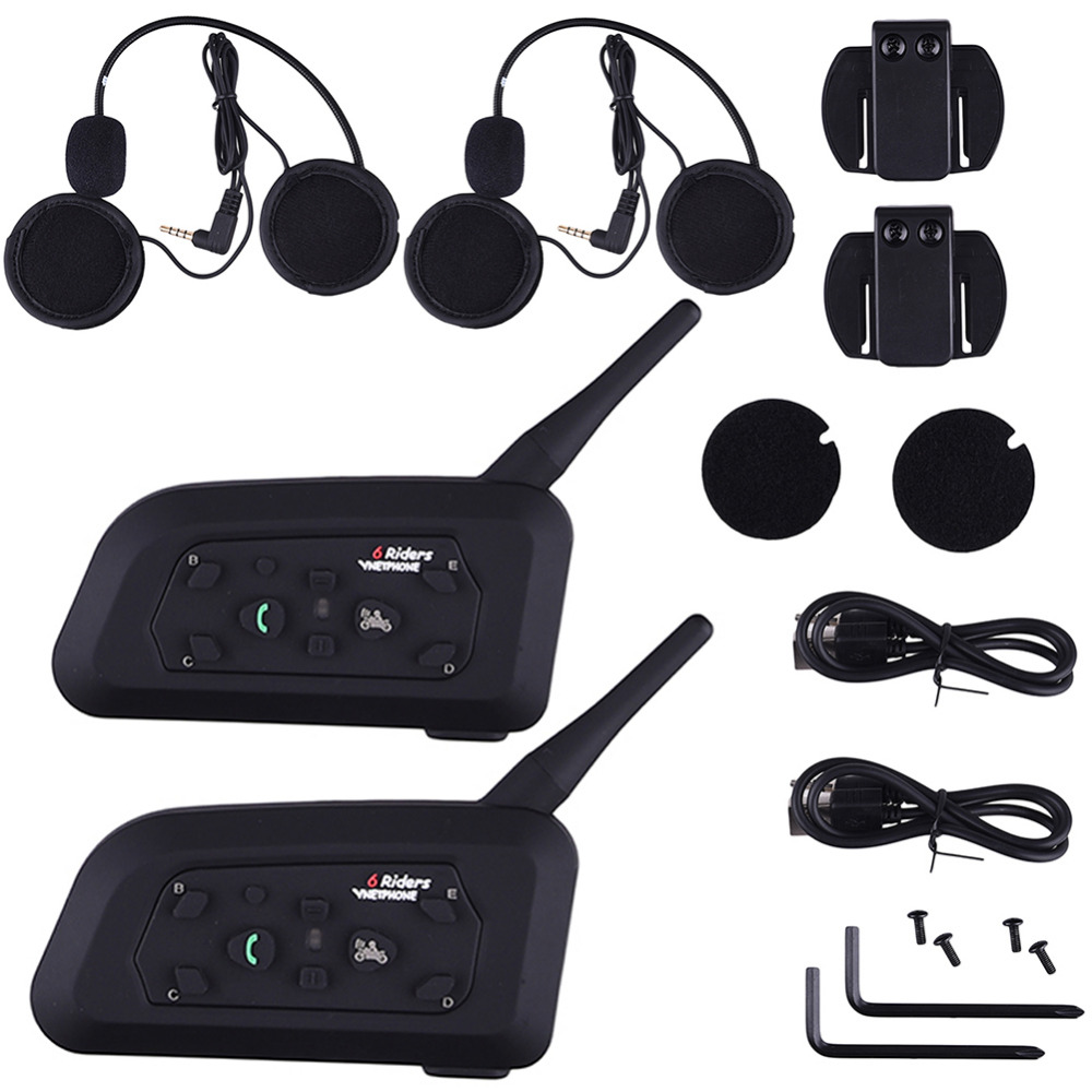 V6-1200 Motorcycle Wireless Headphones Soft  Motorcycle Helmet Bluetooth Intercom Accessories Six People Intercom US Plug 2017 lexin 2pcs max2 motorcycle bluetooth helmet intercommunicador wireless bt moto waterproof interphone intercom headsets