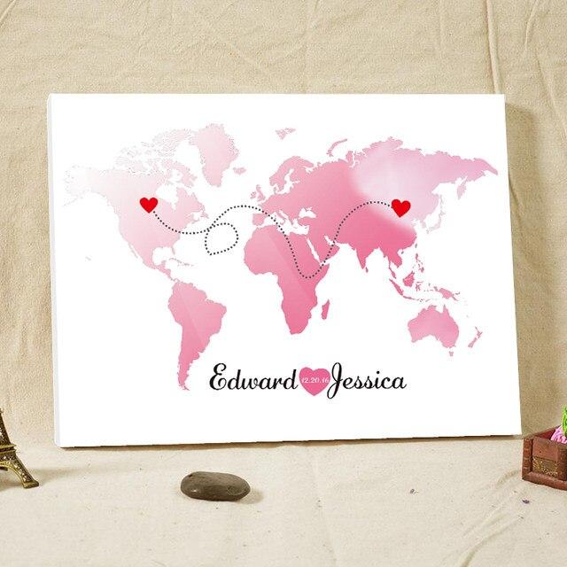 Online Shop Wedding Decoration Guest Book World Map Alternative