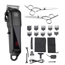 KIKI NEWGAIN rechargeable Professional Hair cutter Hair Trimmer 2000 mAh Lithium battery 100-240V NG-888 set with Lcd display