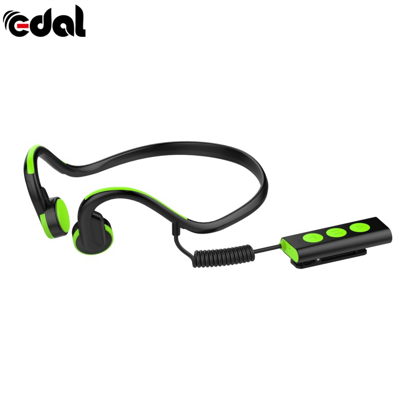 EDAL Wireless Earphone Bluetooth Bone Conduction Headphones With Mic Noise Reduction Portable Outdoor Sports 3 Colors Headphones s wear bluetooth 4 0 wireless headset sports bone conduction earphone headphones ear hook stereo with mic with box