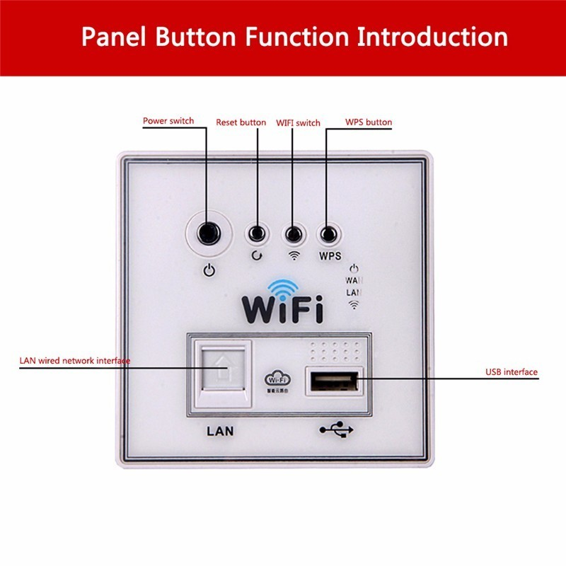 Image 3 - Home Smart Wall Socket Panel WiFi Router Repeater Home Intelligent Wireless Wifi Wall Sockets White/Gold/Black 1 Piece-in Electrical Sockets from Home Improvement