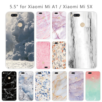 For Xiomi Mi A1 Cases Silicone for Xiaomi Mi A1 Black Back Matte Stone Cover Soft TPU Transparent Shell for Xiaomi Mi 5x Coque