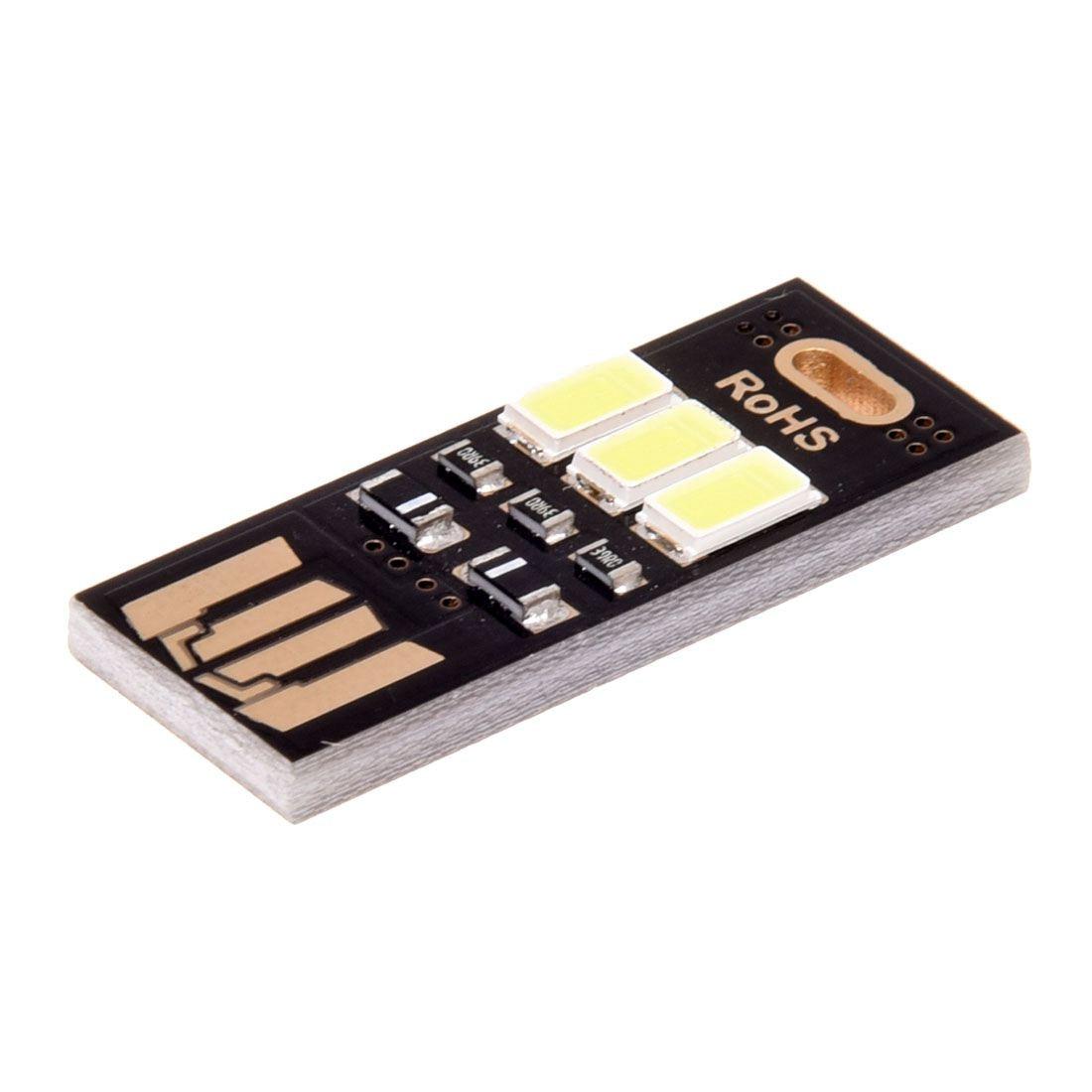 Портативный Мини Карманный карт лампы белый свет 3 светодиодные брелок USB легкий