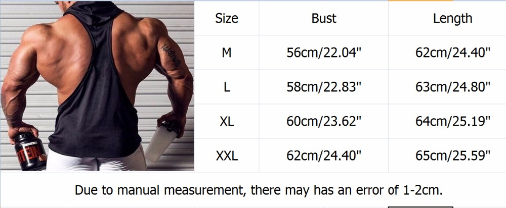 New Men Gyms Clothing Fitness Men   Tank     Top   Hooded Mens Bodybuilding Stringers   Tank     Tops   Workout Singlet Sleeveless Shirt