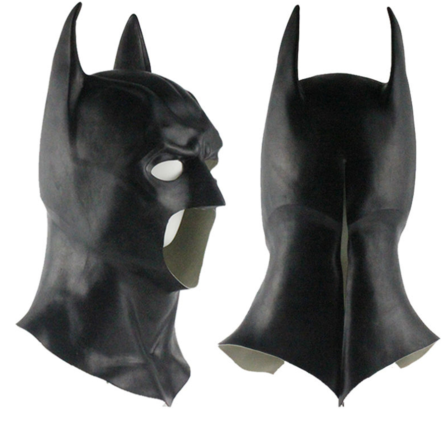 High quality Halloween Batman Mask Full Face Latex Adult Cosplay Costume Props