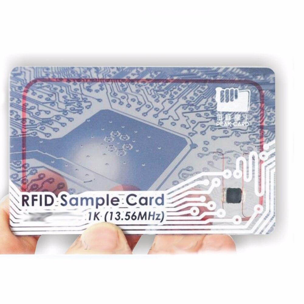 Impressão 1000 pcs 13.56 MHZ RFID Proximidade ID Card/pirnting M1 13.56 MHZ cartão VIP, impressão de cartões de acesso