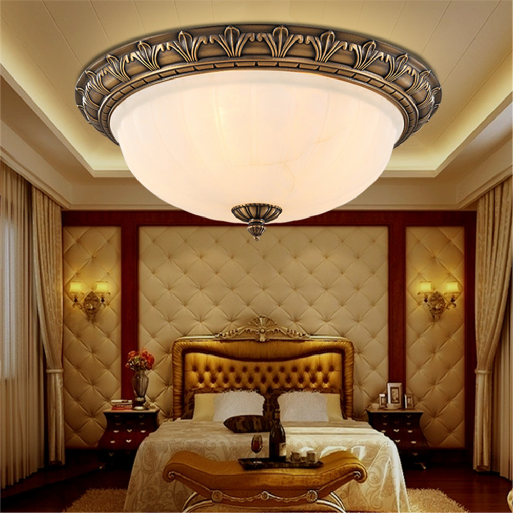 bedroom overhead lighting floureon brass 4 light 18inch ceiling lamp home ceiling 10589
