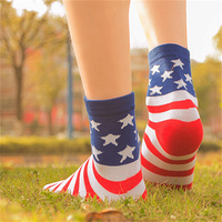 Unisex Casual American USA Star Stripes Flag Fashion Elastic Casual Crew Socks