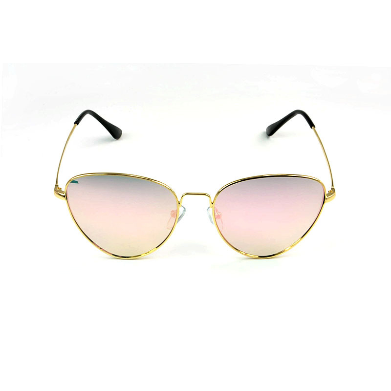 MINAKOLIFE Triangle colored lens Metal Frame Sunglasses Sun glasses Retro Vintage Sun glasses oculos de sol
